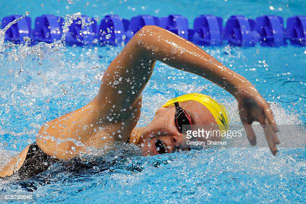 Ariarne Titmus of Australia competes in a preliminary heat of the 800m Freestyle on day two of the 13th FINA World Swimming Championships at the WFCU...