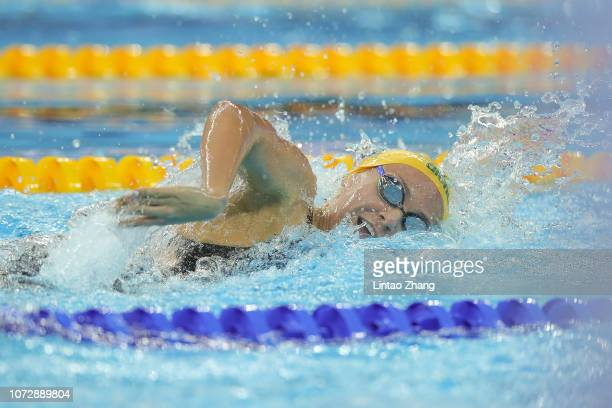 Ariarne Titmus of Australia competes in the Women's 400m Freestyle on day 4 of the 14th FINA World Swimming Championships at Hangzhou Olympic Sports...