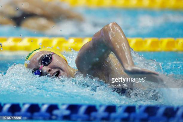 Ariarne Titmus of Australia competes in the Women's Freestyle 800m TimedFinal on day one of the Pan Pacific Swimming Championships at Tokyo Tatsumi...
