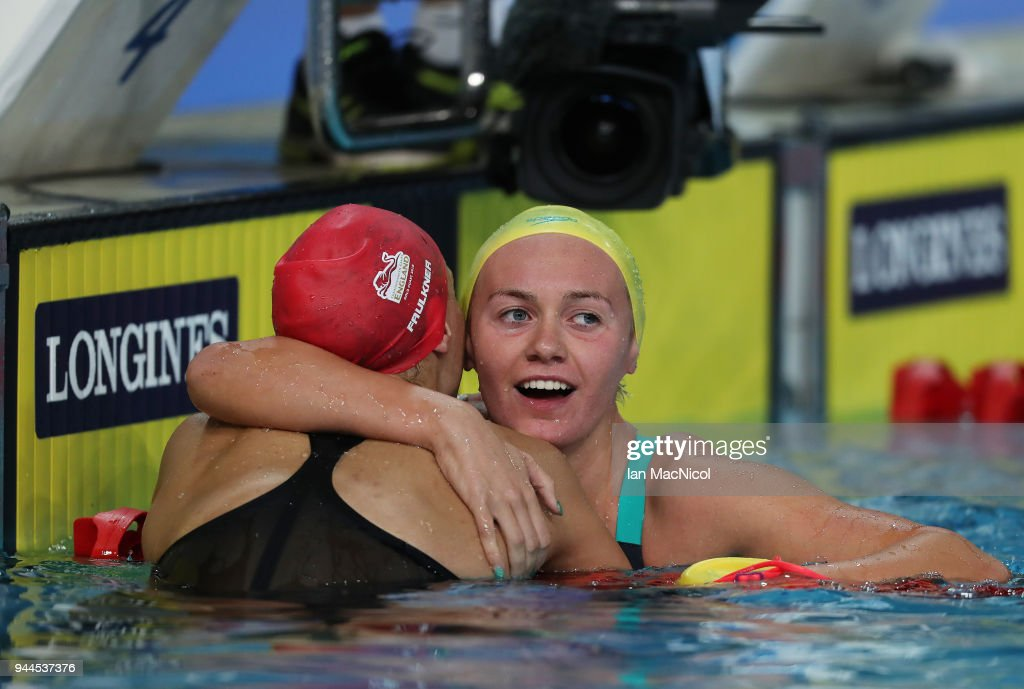 Ariarne Titmus of Australia is seen after the Women's 400m Freestyle Final on day six of the Gold Coast 2018 Commonwealth Games at Optus Aquatic Centre on April 10, 2018 on the Gold Coast, Australia.