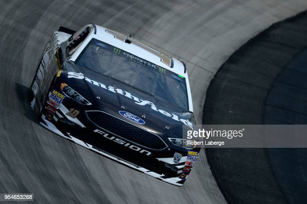 Aric Almirola driver of the Smithfield Ford drives during practice for the Monster Energy NASCAR Cup Series AAA 400 at Dover International Speedway...
