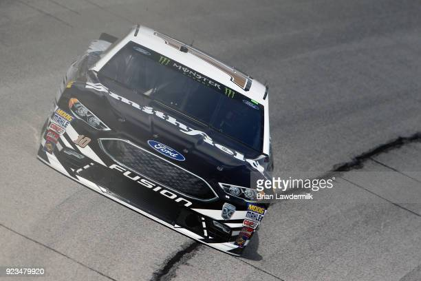 Aric Almirola driver of the Smithfield Ford practices for the Monster Energy NASCAR Cup Series Folds of Honor QuikTrip 500 at Atlanta Motor Speedway...