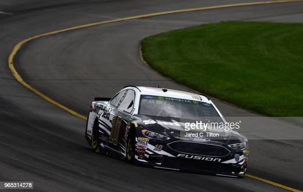 Aric Almirola driver of the Smithfield Ford practices for the Monster Energy NASCAR Cup Series Pocono 400 at Pocono Raceway on June 1 2018 in Long...