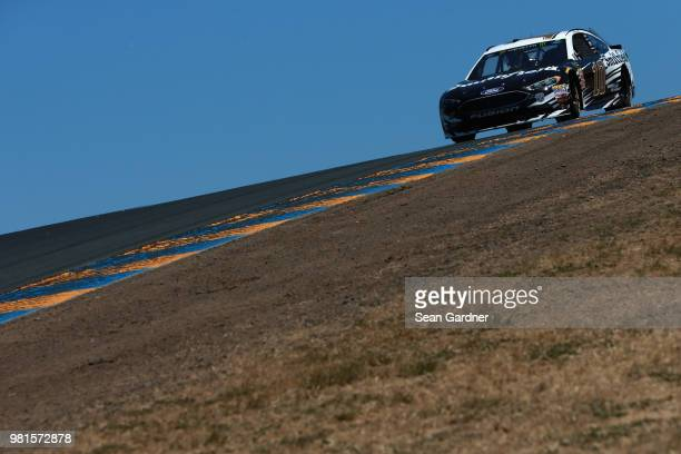 Aric Almirola driver of the Smithfield Ford practices for the Monster Energy NASCAR Cup Series Toyota/Save Mart 350 at Sonoma Raceway on June 22 2018...