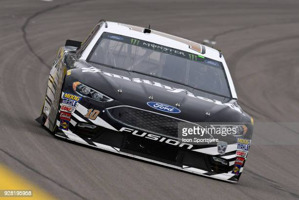 Aric Almirola StewartHaas Racing Ford Fusion drives down the front stretch during practice for the Monster Energy NASCAR Cup Series 21st Annual...