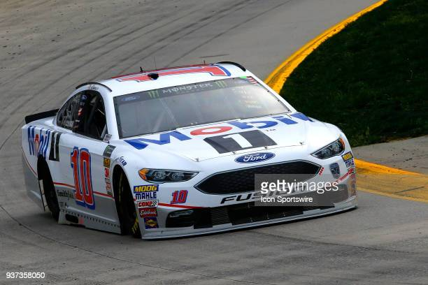 Aric Almirola StewartHaas Racing Ford Fusion Mobil 1 during first practice for the STP 500 Monster Energy NASCAR Cup Series race on March 24 at the...