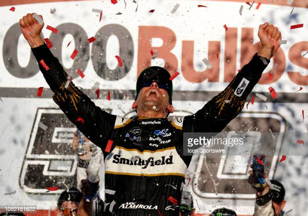Aric Almirola StewartHaas Racing Ford Fusion Smithfield Bacon for Life during the runinng of the 1000Bulbscom500 on Sunday October 14 2018 at...