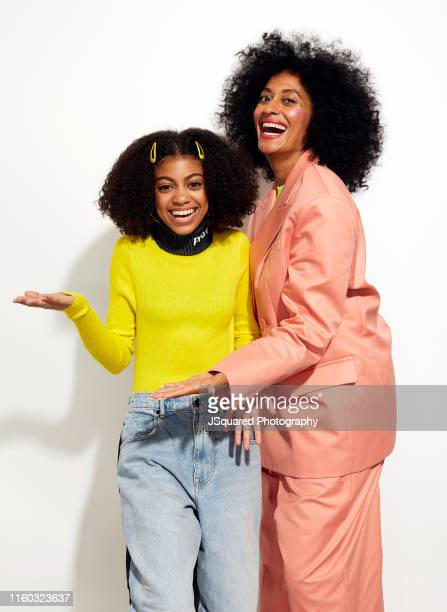 Arica Himmel and Tracee Ellis Ross of ABC's 'Mixedish' pose for a portrait during the 2019 Summer Television Critics Association Press Tour at The...