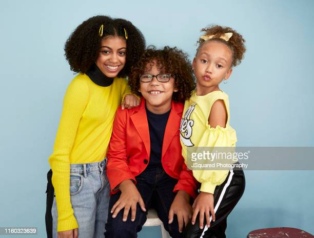 Arica Himmel Ethan Williams Childress and MykalMichelle Harris of ABC's 'Mixedish' pose for a portrait during the 2019 Summer Television Critics...