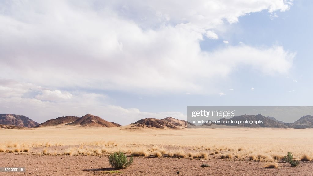 Arid landscape in Sesriem area in Namibia. : Stock Photo