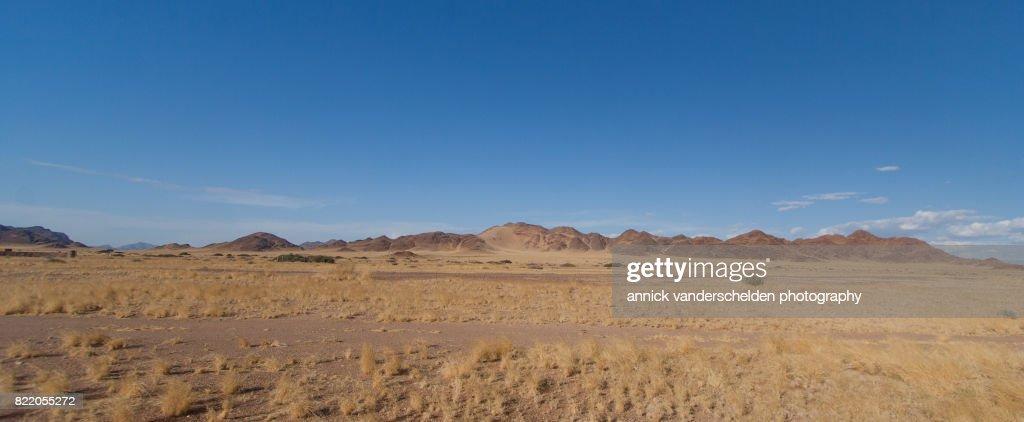 Arid landscape in Sesriem area, Namibia. : Stock Photo