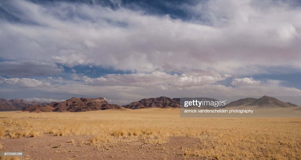 Arid landscape in Sesriem area, Namibia. : Stock Photo