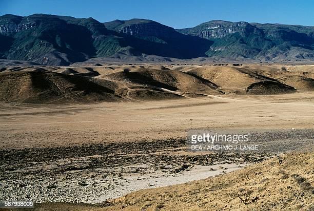 Arid landscape near RasRaysut Oman