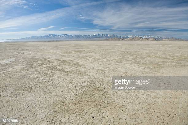 arid salt flats of california - el mirage - fotografias e filmes do acervo
