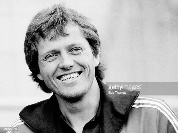 Arie Haan of PSV Eindoven during a match against Borussia Dortmund held at Jan Breydel Stadium in Bruges on 6th August 1983 Borussia Dortmund won on...
