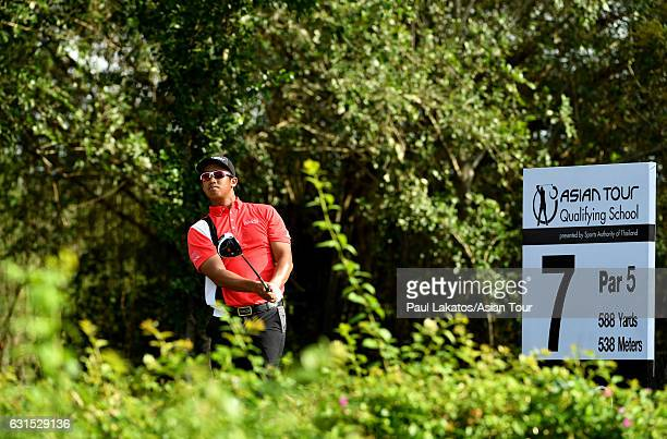 Arie Irawan of Malaysia during the second round of Asian Tour Qualifying School at Suvarnabhumi Golf Country Club on January 12 2017 in Bangkok...
