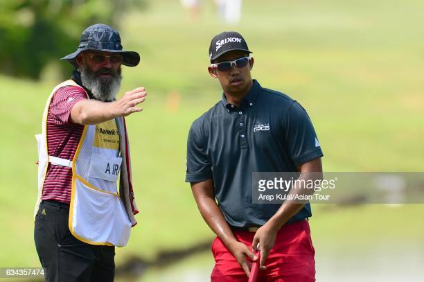 Arie Irawan of Malaysia pictured during Day One of the Maybank Championship Malaysia at Saujana Golf and Country Club on February 9 2017 in Kuala...