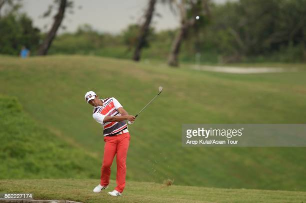 Arie Irawan of Malaysia pictured during practice ahead of the Macao Open at Macau Golf and Country Club on October 17 2017 in Macau Macau