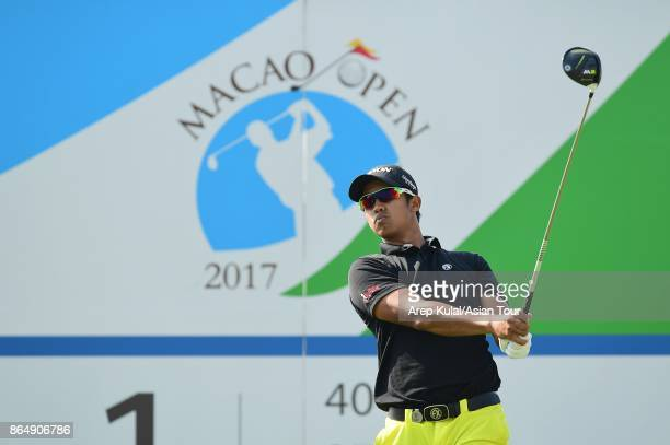Arie Irawan of Malaysia pictured during round four of the Macao Open at Macau Golf and Country Club on October 22 2017 in Macau Macau