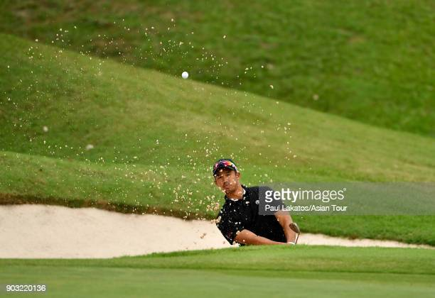 Arie Irawan of Malaysia pictured during round one of the 2018 Asian Tour Qualifying School Final Stage at Rayong Green Valley Country Club on January...
