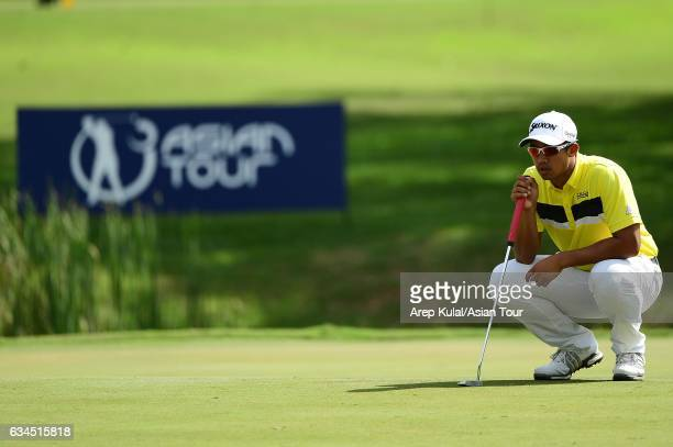 Arie Irawan of Malaysia pictured during round two of the Maybank Championship Malaysia at Saujana Golf and Country Club on February 10 2017 in Kuala...