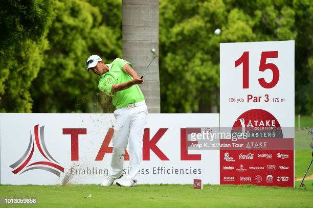 Arie Irawan of Malaysia pictured during the ProAm Tournament ahead of the TAKE Solutions Masters at Karnataka Golf Association Golf Course on August...