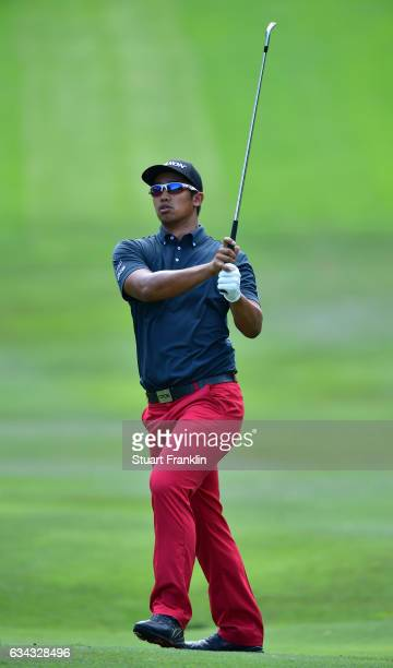Arie Irawan of Malaysia plays a shot during Day One of the Maybank Championship Malaysia at Saujana Golf Club on February 9 2017 in Kuala Lumpur...
