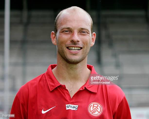 Arie van Lent poses during the 2nd Bundesliga Team Presentation of Rot Weiss Essen at the GeorgMelchesStadium on July 4 2006 in Essen Germany