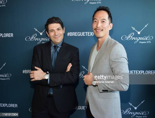 Ariel Adams and Ed Rhee attend Breguet Marine Collection Launch at Little Beach House Malibu on July 11 2019 in Malibu California
