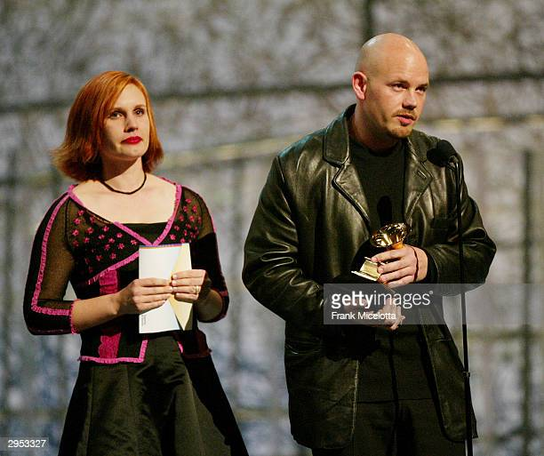 Ariel and Jordan Zevon children of the late Warren Zevon accept the award on behalf of their father for Best Rock Performance Duo or Group at the...