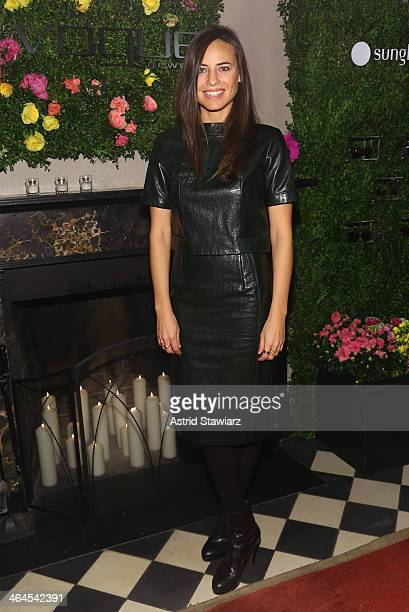 Ariel Ashe attends the Council Of Fashion Designers Of America's 4th annual design series for Vogue eyewear event presented by LensCrafters and The...
