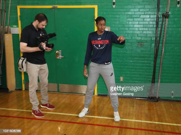 Ariel Atkins of the Washington Mystics during the 2018 Jr WNBA Clinic on September 11 2018 at Hart Middle School in Washington DC NOTE TO USER User...