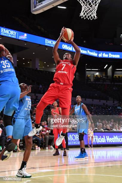 Ariel Atkins of the Washington Mystics goes to the basket against the Atlanta Dream on July 31 2018 at McCamish Pavilion in Atlanta Georgia NOTE TO...