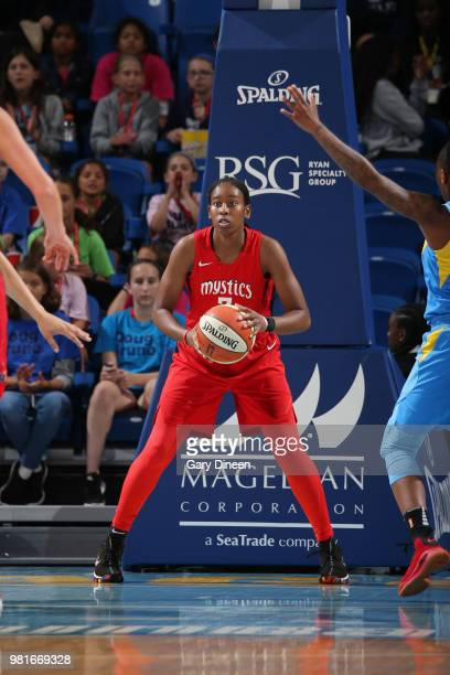 Ariel Atkins of the Washington Mystics handles the ball against the Chicago Sky on June 22 2018 at Wintrust Arena in Chicago Illinois NOTE TO USER...
