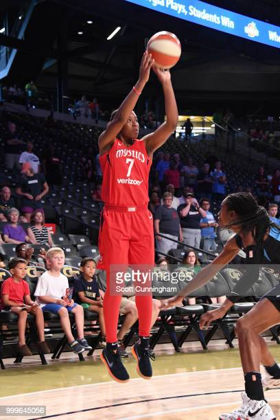 Ariel Atkins of the Washington Mystics shoots the ball against the Atlanta Dream on July 15 2018 at Hank McCamish Pavilion in Atlanta Georgia NOTE TO...