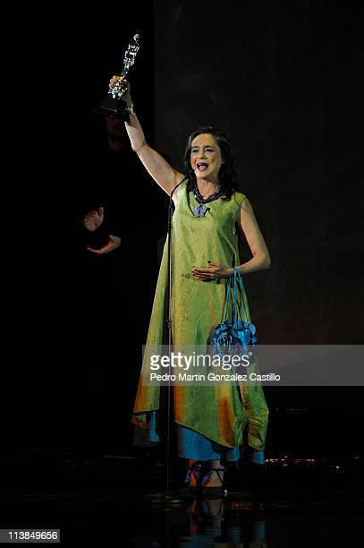 Ariel Awards ceremony who celebrates the best films made in Mexico In this imagewinner for Best Supporting Actress Ofelia Medina on May 7 2011 in...