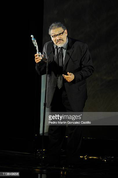 Ariel Awards ceremony who celebrates the best films made in Mexico In this image winner for Best Supporting Actor Joaquin Cosio on May 7 2011 in...