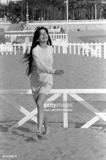 Ariel Besse lors du Festival de Cannes en mai 1981 France