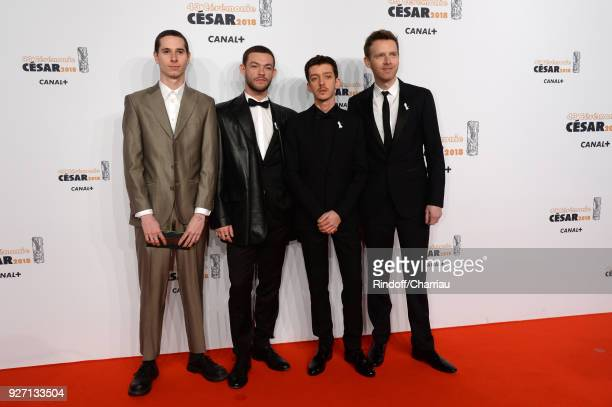 Ariel BorensteinFelix MaritaudNahuel Perez Biscayart and Antoine Reinartz arrive at the Cesar Film Awards 2018 At Salle Pleyel on March 2 2018 in...