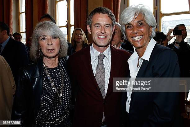 Ariel de Ravenel Philippe Mugnier and Linda Pinto attend Kenzo Takada Is Honoured With The Insignes of Chevalier De La Legion D'Honneur at Conseil...