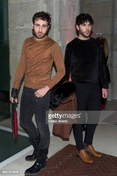 Ariel Dieguez and Ariel Medeiro, also known as 'Los Arys', attend the Roberto Verino show during the Mercedes-Benz Madrid Fashion Week Autumn/Winter...
