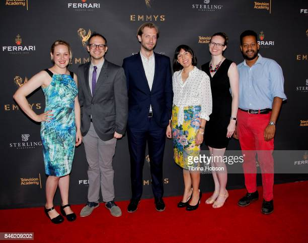 Ariel Dumas Daniel Kibblesmith Gabe Gronli Jen Spyra Kate Sidley and John Thibodeaux attend the Television Academy's Celebration of the nominees for...