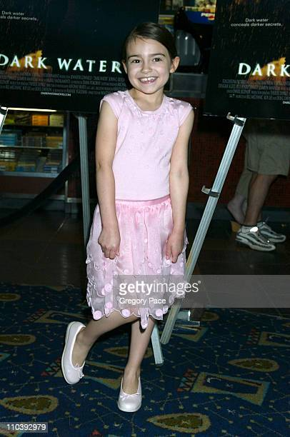 Ariel Gade during 'Dark Water' New York City Premiere Inside Arrivals at Clearview Chelsea West Cinema in New York City New York United States