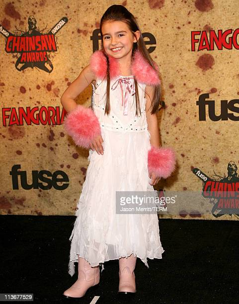Ariel Gade during Fuse Fangoria Chainsaw Awards Press Room at Orpheum Theatre in Los Angeles California United States
