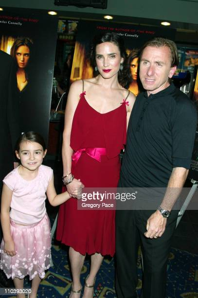 Ariel Gade Jennifer Connelly and Tim Roth during 'Dark Water' New York City Premiere Inside Arrivals at Clearview Chelsea West Cinema in New York...