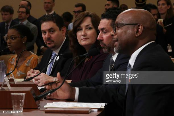 Ariel Hobbs, student member of the March For Our Lives Board of Directors, trauma surgeon and gun violence survivor Joseph Sakran, Mayor of Parkland,...