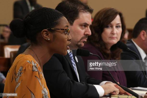 Ariel Hobbs, student member of the March For Our Lives Board of Directors, trauma surgeon and gun violence survivor Joseph Sakran, and Mayor of...