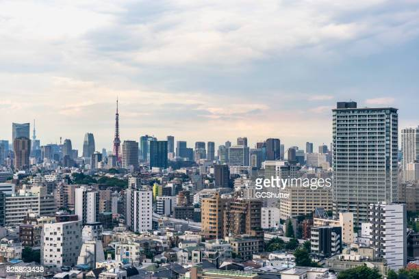 Ariel image of the Tokyo skyline in daytime
