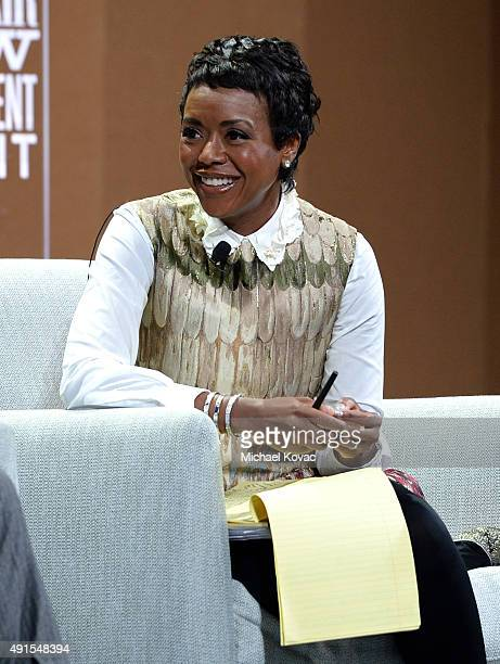 Ariel Investments' Mellody Hobson speaks onstage during Which Way LA The New Business of Hollywood at the Vanity Fair New Establishment Summit at...