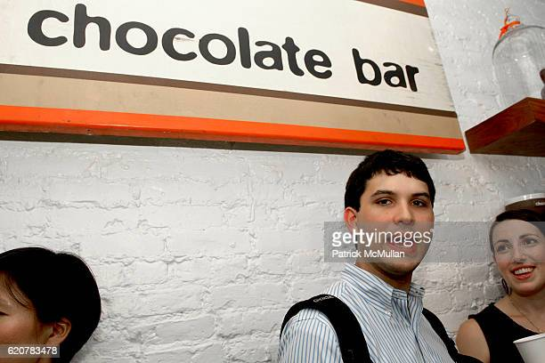 Ariel Junqueira and Caitlin Kelley attend ALISON NELSON'S CHOCOLATE BAR East Village Grand Opening Produced by Workhouse Publicity at 127 East 7th...